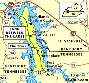 Best Land Between The Lakes TN KY Images On Pinterest - Tn lakes map