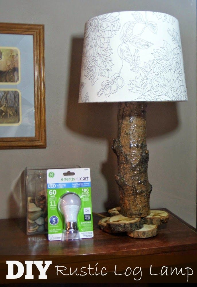Awesome How to Make A Log Lamp