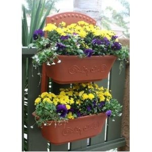 Fence Vegetable Planter   Flower Planter   Self Watering Red Planter Box