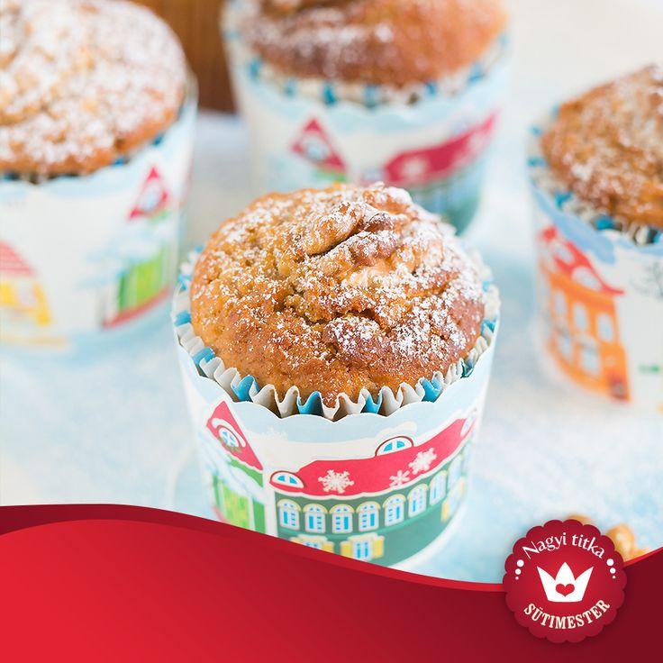 Isteni almás muffin, kevesebb zsiradékkal és cukorral.