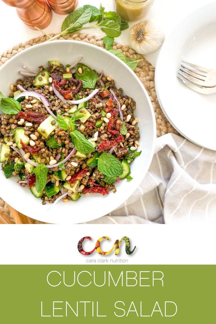 Cucumber lentil salad in 2021 yummy salad recipes quick