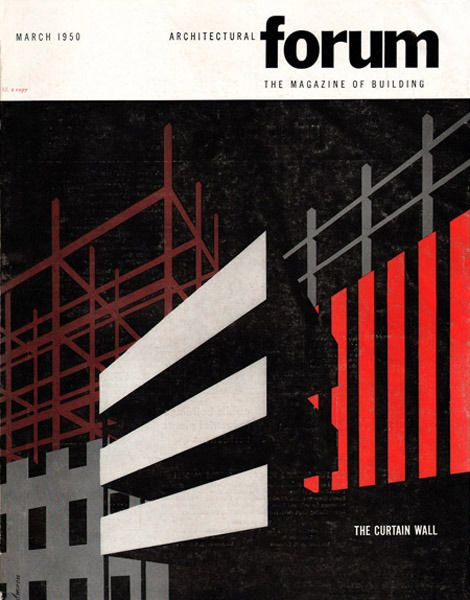 Striking Cover Illustrations For 50s Magazine Architectural Forum