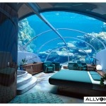 Poseidon Undersea Resort in Fiji.  A whole hotel under the sea.