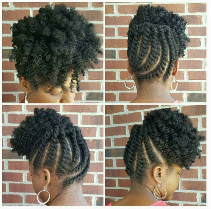 Twist out updo