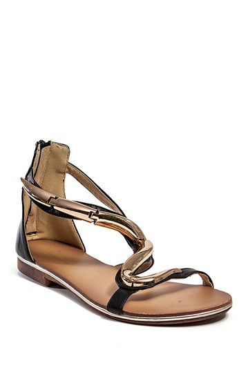 Nephartiti Sandal by Checklist on @HauteLook #gold #sandal