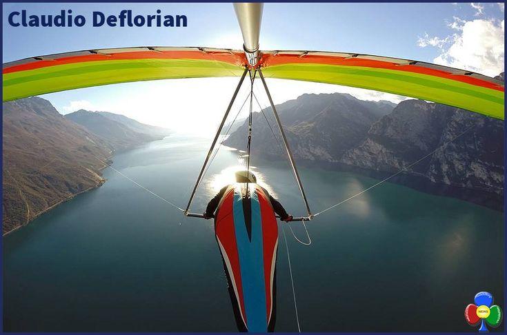 Claudio Deflorian, volare sopra i sogni con il deltaplano