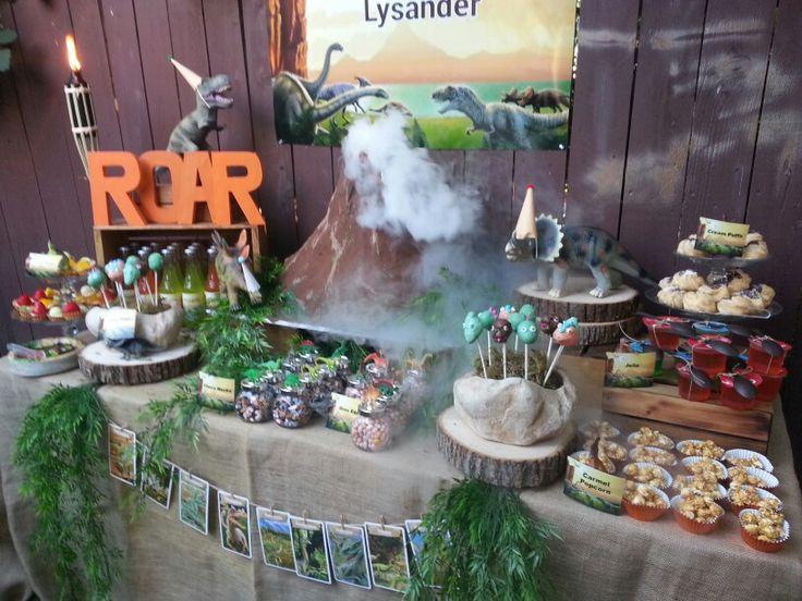 Dinosaur Themed Dessert Table In 2019 Birthday Party