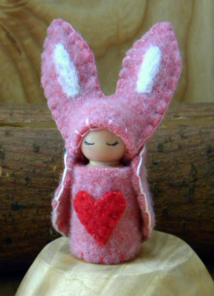 164 best waldorf springeaster swap images on pinterest easter valentines day waldorf peg doll honey bunny gnome rabbit valentines day gift negle Images