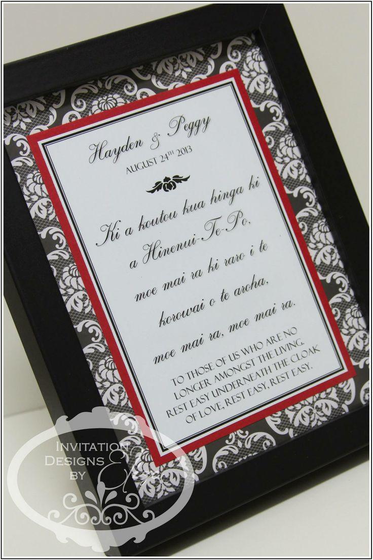 Designer Frame {Wedding} Black, White & Red Theme https://www.facebook.com/InvitationDesignsByEliza