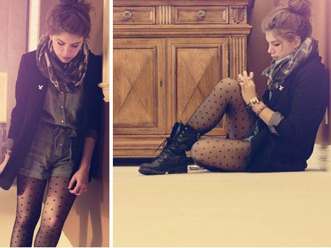 J'adore le look, je vais essayer la transition cet automne avec mon combishort agencé à des collants et des bottes, c'est vraiment beau!