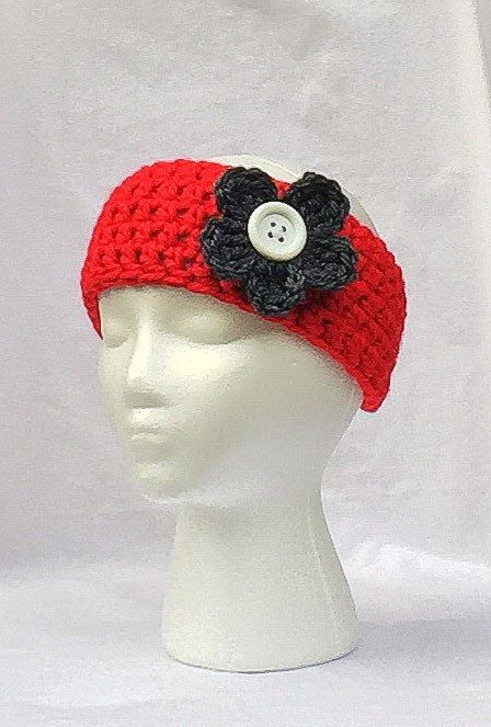 A personal favorite from my Etsy shop https://www.etsy.com/listing/247568668/osu-ear-warmer-crochet-red-head-band