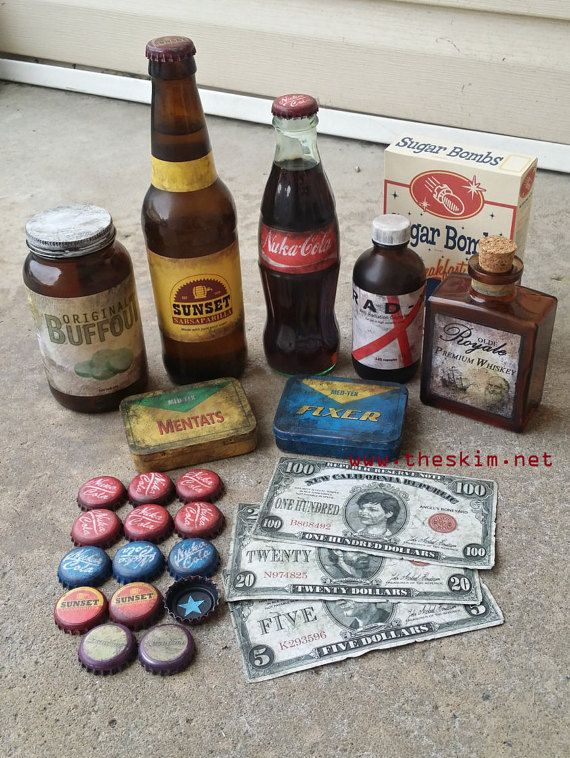 Fallout ULTIMATE PROP PACK Fallout Cosplay or Display: Buffout Rad-X Mentats Fixer NukaCola Quantum Sunset Sarsaparilla Sugar Bombs Whiskey