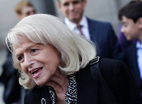 "Edith Windsor sued the United States Government after being denied federal estate tax exemption as a surviving spouse - an exemption that cost her over $363k in federal taxes.  June 26, 2013, the U.S. Supreme Court ruled that section three of the ""Defense of Marriage Act"" (DOMA) is unconstitutional and that the federal government cannot discriminate against married lesbian and gay couples for the purposes of determining federal benefits and protections. -source aclu.org"