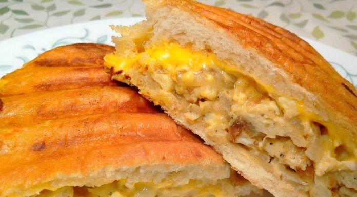 Cheese and Scrambled Eggs Sandwich