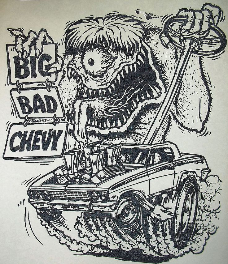 Big bad chevy 62 chevy impala rat fink style vintage 70 39 s for 70 s t shirt transfers