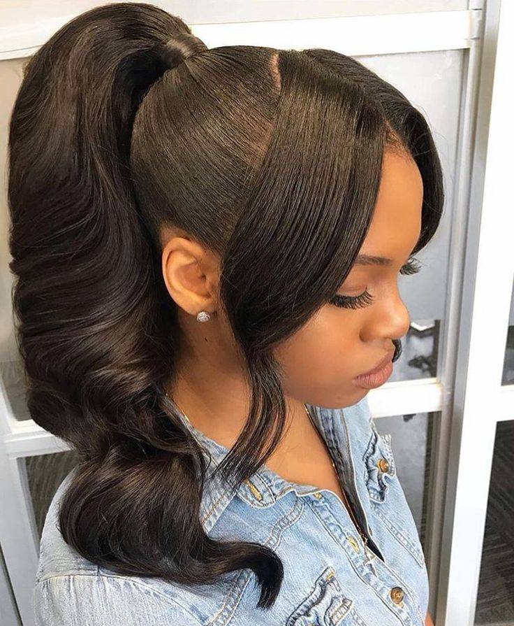 Pin by shantel lee on Quick Weave Styles   Hair ponytail ...