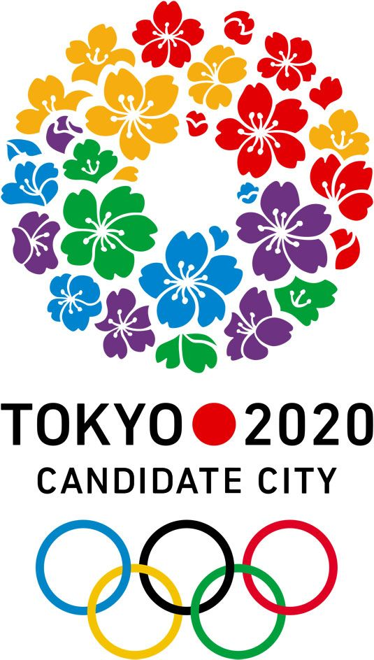 Tokyo logo.  I love this. (They have won the bid - summer games.)