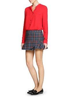 MANGO - NEW - College style fluted miniskirt