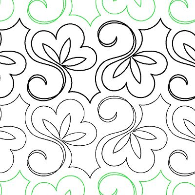 """Lorien's Sweet Pea - Paper - 7"""" - Quilts Complete - Continuous Line Quilting Patterns"""