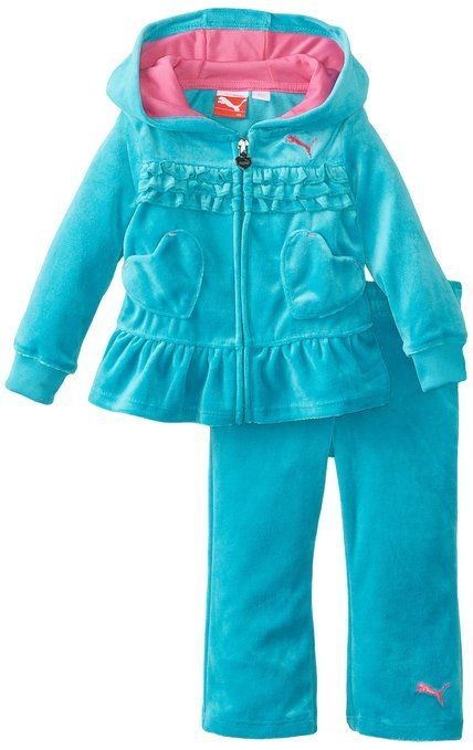 PUMA Baby-Girls Infant Ruffle and Heart Set is soft, cool and warm – that what you need for the winter!Girly ruffle details and two pocked hearts on the jacked. Order from here : http://babylifeparadise.com/clothes/baby-girl-clothes/puma-tracksuit-ruffle-and-heart-for-little-girls
