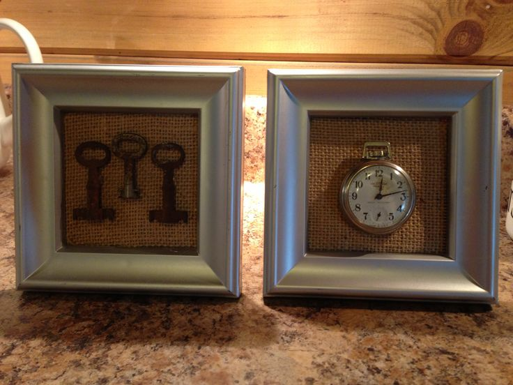 Interesting display idea:  Keys and an old pocket watch