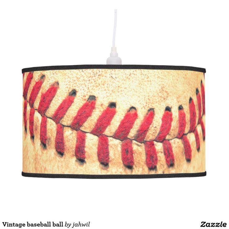 Vintage baseball ball hanging pendant lamp