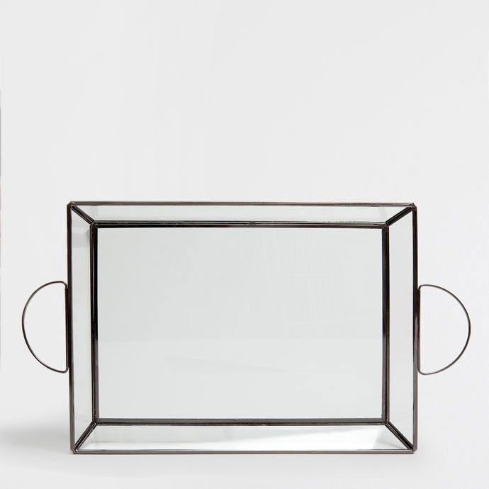 Image 6 of the product Glass tray with a metal structure
