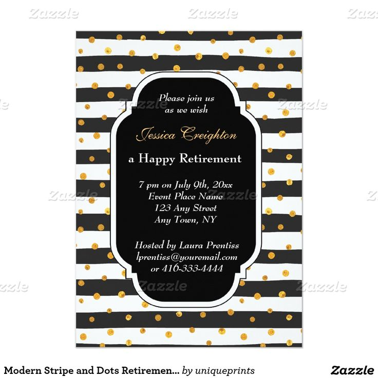 23 best party invitations images on pinterest party invitations modern stripe and dots retirement invitations stopboris Image collections