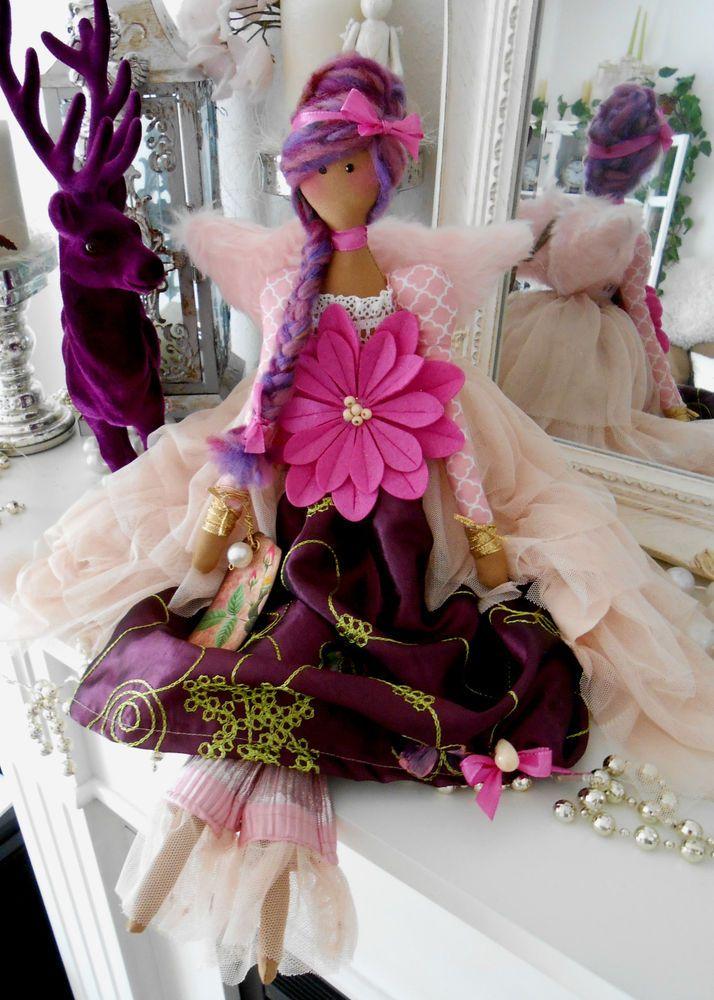 Vintage Zucker Engel Nostalgie landhaus Shabby Tilda Impressionen Puppen Look
