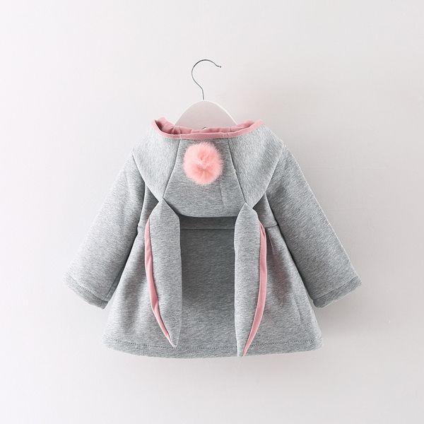 Куртки, кофты из Китая :: 2017 женский ребенка осень зима одежда корейской версии девочек толстые куртка кардиган толстовка одежда для новорожденных детей 0-1-2-3-год-старые.