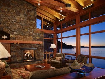 Living Room   Rustic   Living Room   Seattle   Krannitz Gehl Architects