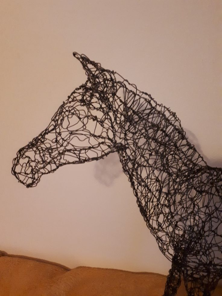 Close up of wire work horse