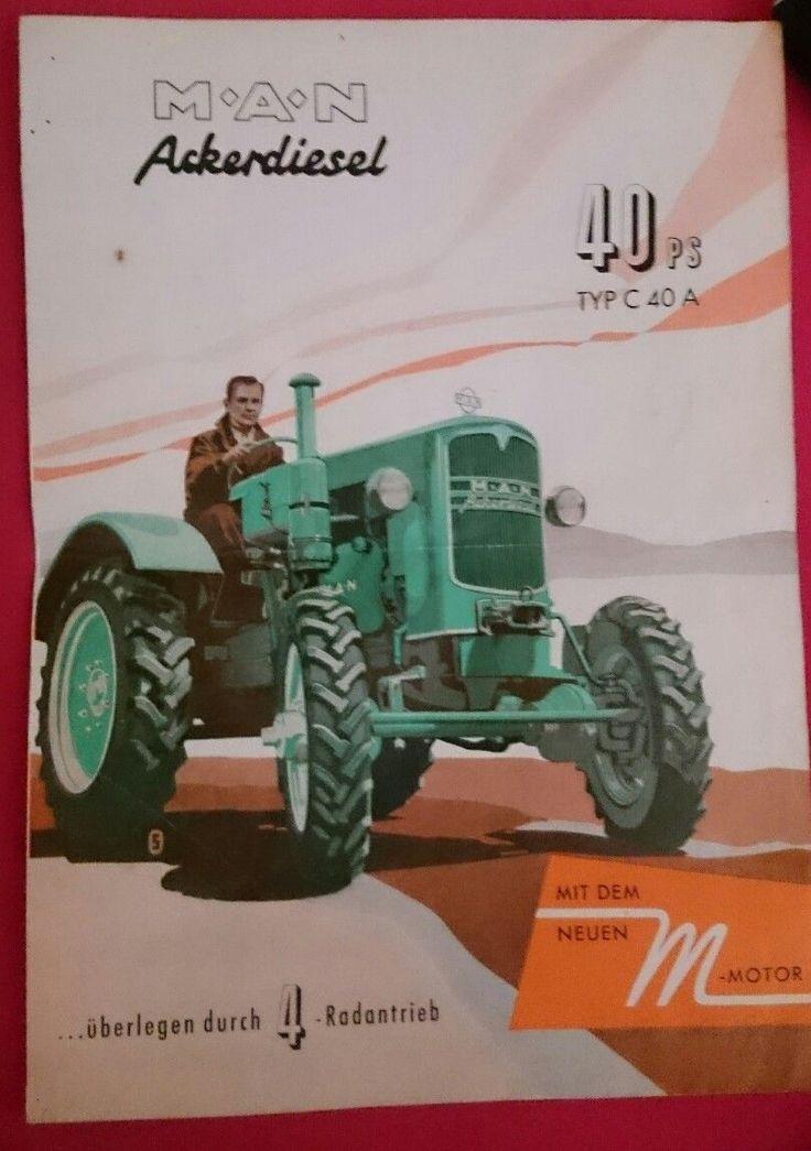 Original Prospekt A05 MAN 4 Rad Ackerdiesel 40 PS Traktor �� Schlepper Allrad | eBay