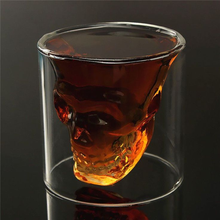 75ml Double Wall Skull Skeleton Whisky Wine Glass$8.99Features: Cool Stuff, Life…