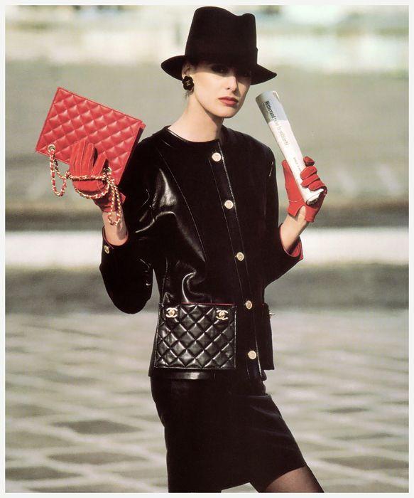 Карл Лагерфельд для Chanel, 1987. |whatgoesaroundnyc.com.