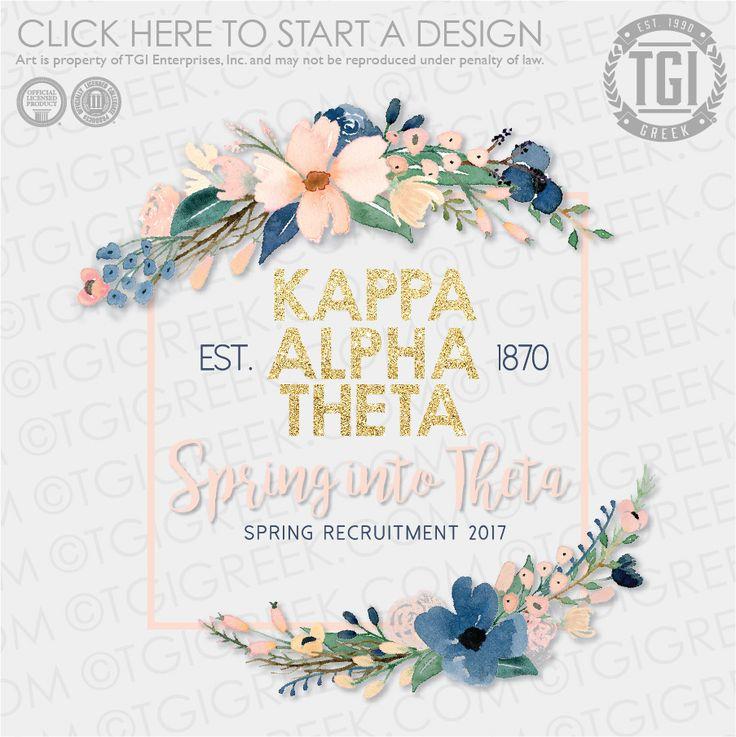 Kappa Alpha Theta | KAT | ΚΑΘ | Spring Recruitment | Recruitment | Spring into Theta | TGI Greek | Greek Apparel | Custom Apparel | Sorority Tee Shirts | Sorority T-shirts | Custom T-Shirts