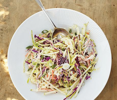 Coleslaw with Apple and Yogurt Dressing...I'm always in search of a good coleslaw!  Most are so bland and texturally not great.  So I want to give this one a try.
