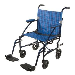 Drive Fly Lite Ultra Lightweight Transport Wheelchair in Blue dfl19-bl at The Home Depot - Mobile