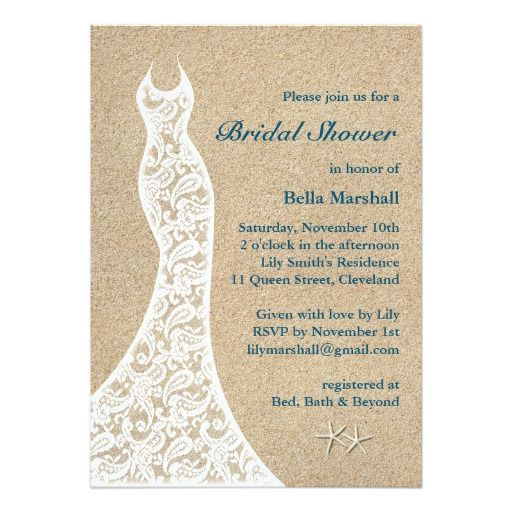271 best beach bridal shower invitations images on pinterest beautiful beach bridal shower invitation turquoise filmwisefo Choice Image