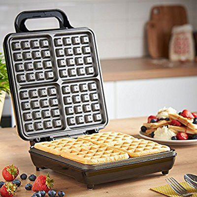 vonshef quad belgian waffle maker 1100w compact design with non