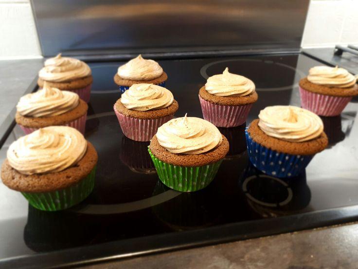 Chocolate Hazelnut cupcakes with Nutella Buttercream