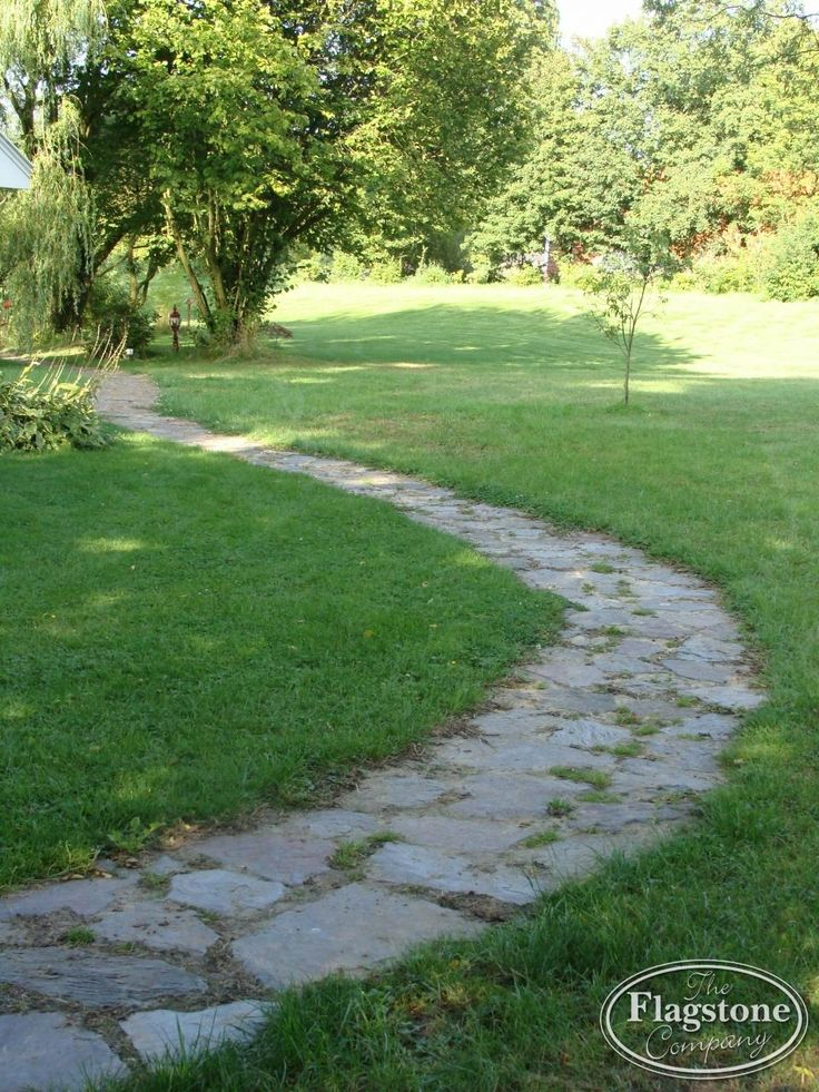 Flagstones los in de tuin gelegd als tuinpad - Violetto Flagstones.
