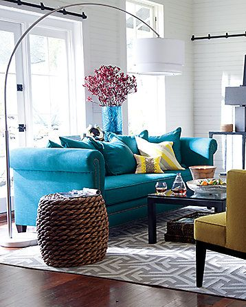 Best 25+ Turquoise couch ideas on Pinterest | Turquoise ...