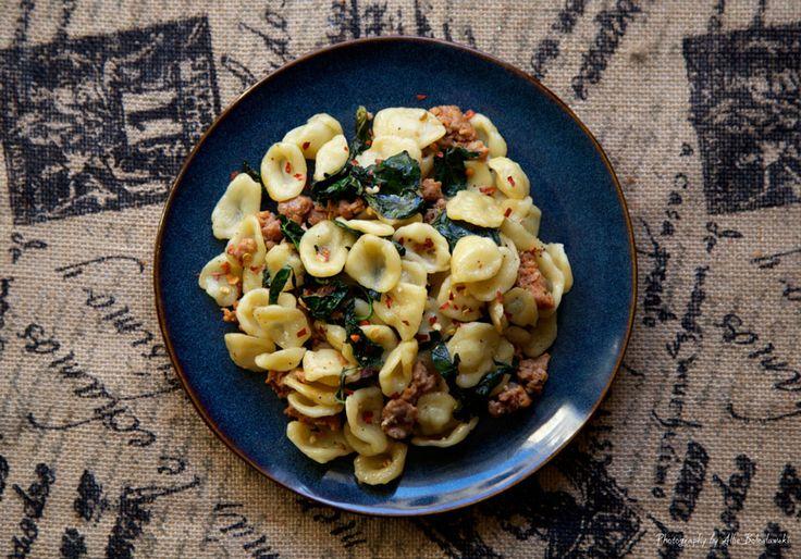 Spicy Sausage and Kale Orecchiette | Favorite Recipes | Pinterest
