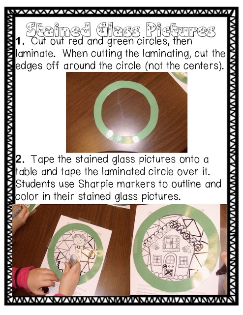 Stained Glass Pictures for Christmas Presents!  http://sassyinsecond.blogspot.com/2012/12/gingerbread-fun-and-freebie.html