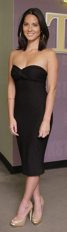 Simple & classic strapless black sheath cocktail dress