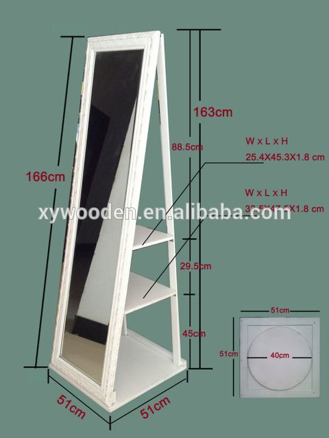 Source Big Dressing Mirror Rolling Stand Mirror for Jewelry Putting on m.alibaba.com