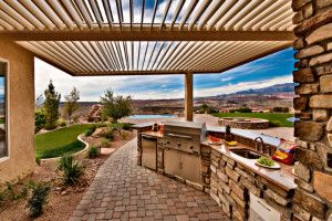 Louvered Roof System offers shade or sun on demand and is completely waterproof when closed | Equinox