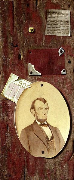 portrait of lincoln john frederick peto 1889 trompe l 39 oeil pinterest vintage abraham. Black Bedroom Furniture Sets. Home Design Ideas