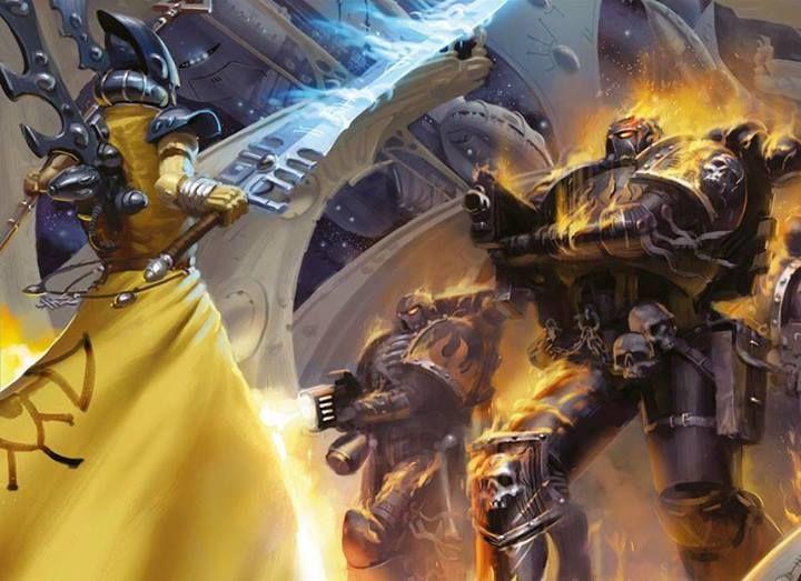 Iyanden Eldar Farseer vs. Legion of the Damned